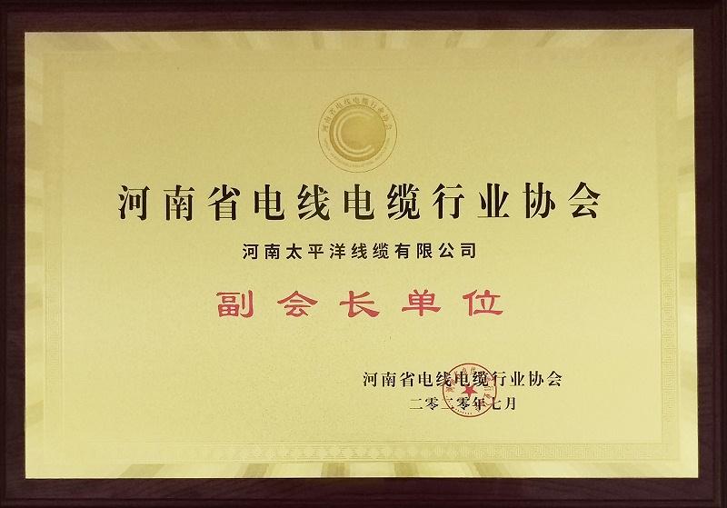 2020年河南省电线电缆协会副会长单位