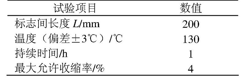 表1 收缩试验
