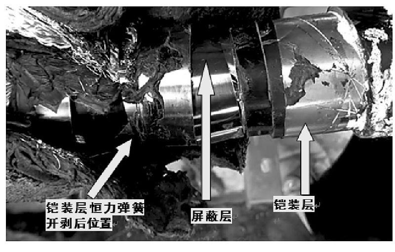 图3 铠装层恒力弹簧脱落