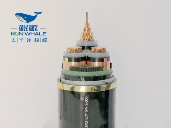 yjv22-8.7/15kV-3x300高压电缆